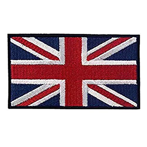 Bandera británica bordado Applique bandera de Inglaterra Reino Unido gran Bretaña Sew...