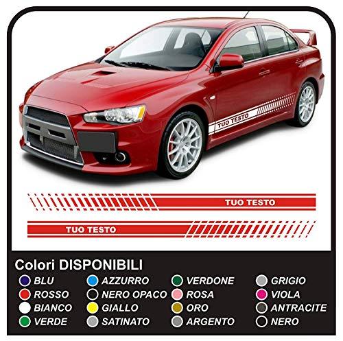 UNIVERSAL AUTOAUFKLEBER benutzerdefinierte Auto Racing Stripes SEITENBÄNDER Auto Tuning Stickers Decals (SCHWARZ MATT)