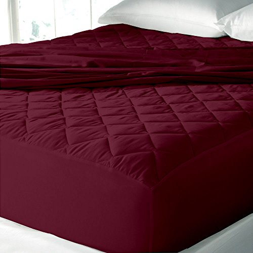 Waterproof & Dustproof Mattress Protector King Size - 78'X72'-For King Size Mattress-Mahroon-By Cloth Fusion