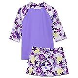 TUGA Sunwear Tropical Breeze Set-UV-Shirt, Baderöckchen und Bikini, Agata, Gr. 104-110 (4-5 Jahre), 18-1011-4/5