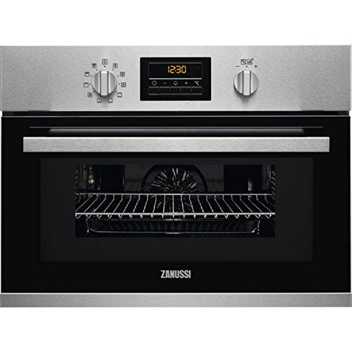 Zanussi ZOK37901XU - Horno Pequeño, Horno eléctrico, 43 L, 43 L, Negro, Acero inoxidable, Giratorio...