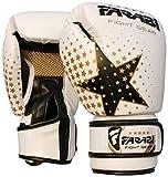 Farabi Guantes de boxeo, artes marciales mixtas, para jóvenes, 170 g, color blanco