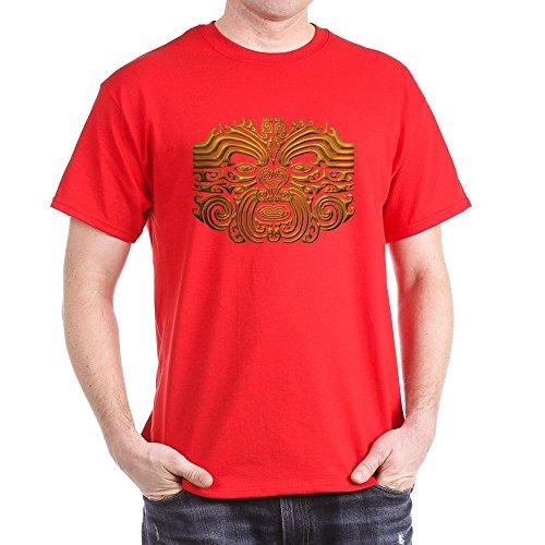 CafePress Maori Tattoo-Gold–T-Shirt Aus 100{22256dbf0fc3dc05c19948e7a183a625e8c2fee61a0ef716a94448658544d215} Baumwolle Gr. Medium, Rot
