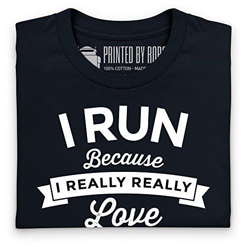 Run Booze T-Shirt, Herren Schwarz