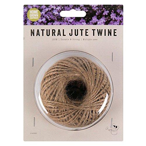 Yute Natural cordel–100m (328pies) para jardinería, floristería, manualidades, artes y manualidades