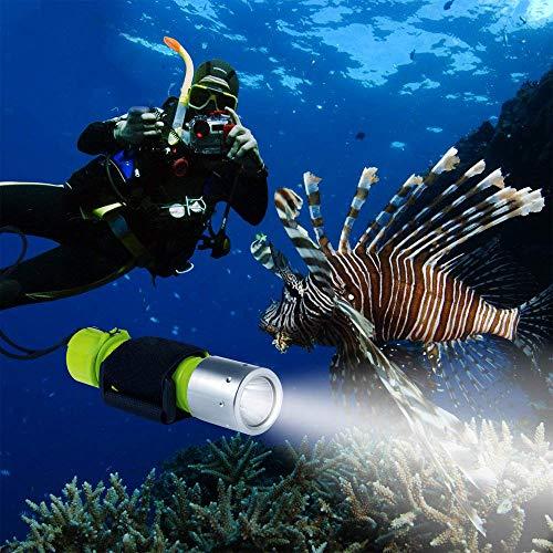 Xelparuc 1100 Lumen Professionelle Tauch-Taschenlampe helle LED U-Boot Licht Scuba Safety Lights Wasserdicht Unterwasser-Taschenlampe für Outdoor Unterwasser-Sport Gelb