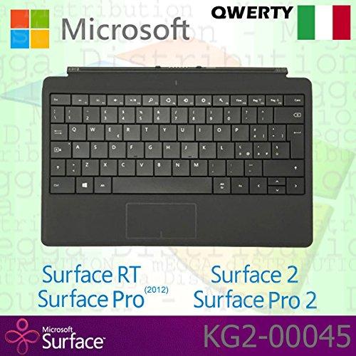 Rt 64gb Tablet Surface Microsoft (Microsoft Surface RT/Pro (2012)/2/Pro 2Type Cover Italienischer QWERTY Tastatur mit Hintergrundbeleuchtung Schlüssel–Schwarz–OEM verpackt (keine Einzelhandelsverpackung))