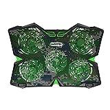 Yzibei Haltbar Gaming Laptop Kühler, fünf ziemlich Fans und LCD-Touchscreen, 2400 U/min Starker Wind Alien Style für Gamer und Office (Farbe : Camouflage)