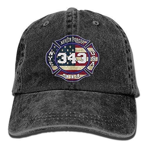 7.75 Hut (UUOnly 911 343 Fallen Firefighters Remembrance Baseballmützen Denimhüte für Männer, Frauen)