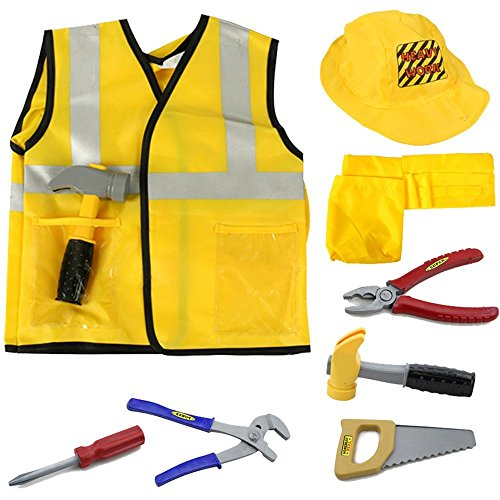 MaMiBaby's construction worker costume, role playing set, ideal costume for Halloween Party (Für Kleinkind-halloween-party Spiele)
