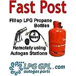 lpg gas bottle filling adaptor REMOTE 2m with non return valve autogas caravans 4