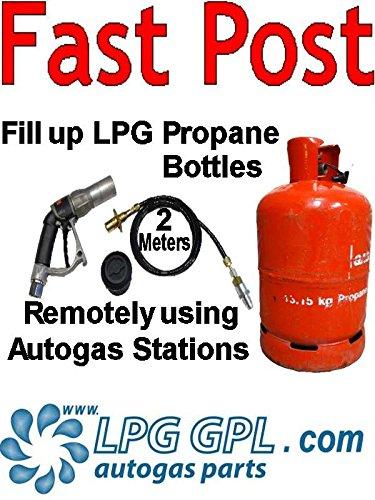 Preisvergleich Produktbild LPG Gasflaschenadapter zum Befüllen aus der Ferne 2 Meter mit Rückschlagventil Flüssiggas Wohnwagen