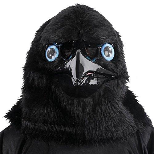 Rabe Maske mit sich bewegendem Kiefer - Halloween Maske Erwachsene