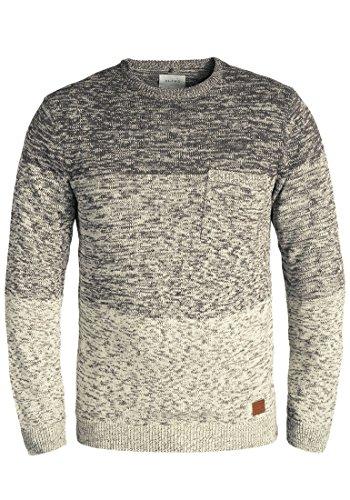 Blend Garry Herren Strickpullover Feinstrick Pullover Mit Rundhals Und Melierung Aus 100% Baumwolle, Größe:XXL, Farbe:Pewter Mix (70817)