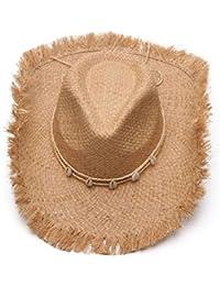 Sombreros De Vaquero De Paja Hombres Mujeres Rafi Verano Sombreros Panamá De Playa Sombrero Para El Sol