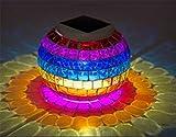 HAPPYMOOD Mosaik Lichter Weihnachten Licht Wasserdicht Solar Energie Anzeigen Landschaft Lampe Globus Rasen Garten Gard Innen Dekoration