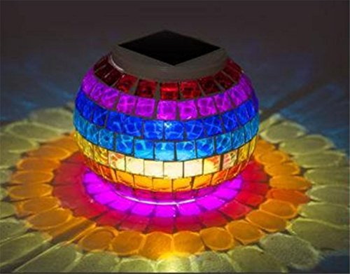 SUGER-LIGHT Mosaic lights Christmas Light Waterproof Solar Energy Display landscape Lamp Globe Lawn Yard Gard Indoor Docoration