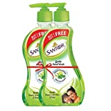 Santoor Gentle Hand Wash - 215 ml (Fresh Sweet Lime Peel and Tulsi, Buy 1 Get 1 Free)