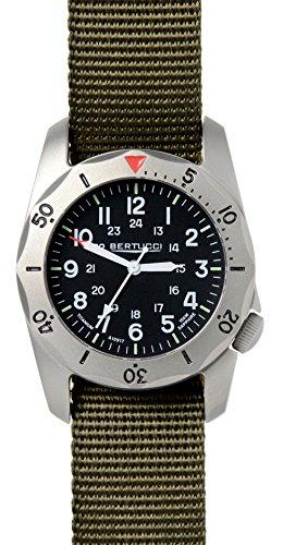 Bertucci A-2TR Vintage 12114 Mens Titanium Band orologio da polso al quarzo nero