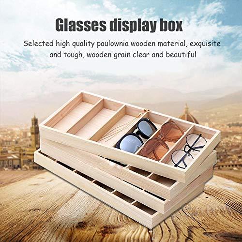 Juman634 Brillenetui Organizer Gläser Display Box Sonnenbrille Aufbewahrungskoffer Benutzerdefinierte Holzkiste