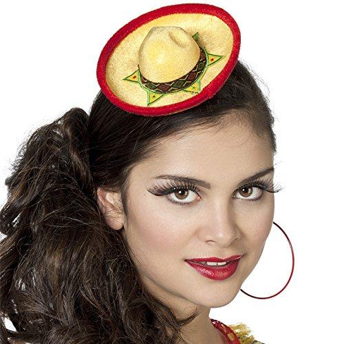 o, gelb (Mini Sombrero Party Hüte)
