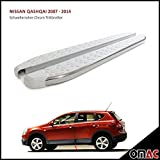 Skirt Pipes Chrome Running Boards for Nissan Qashqai 2007 – 2014 Whiteline 173