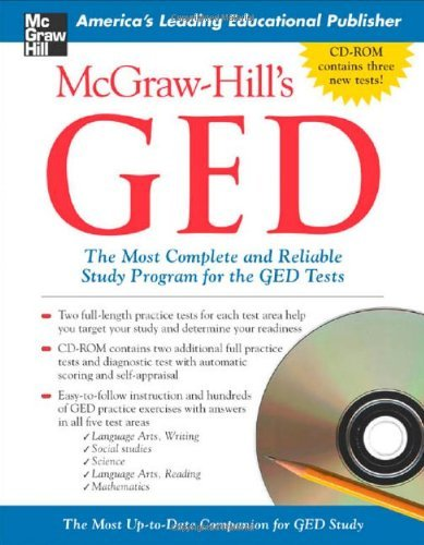 McGraw-Hill's GED w/ CD-ROM: The Most Complete and Reliable Study Program for the GED Tests by Patricia Mulcrone (2005-04-27)