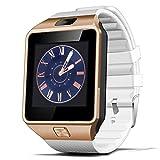 Qimaoo 1,56 Zoll Bluetooth Smartwatch DZ09 für Android Samsung Galaxy S6/S7/S8/iPhone 7 Plus/6/5 mit Kamera Sim SD Card