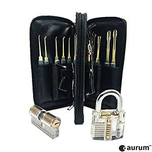 aurum original lockpicking set mit 2 lockpick bungsschl ssern pdf anleitung das perfekte. Black Bedroom Furniture Sets. Home Design Ideas