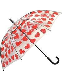 Transparente Ver A Través paraguas Varios Diseños Botas de agua Corazones registros Lunares