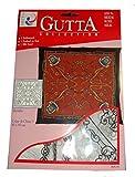 ARTY'S Gutta Collection - Motiv: Heraldic - Crepe de Chine 5, ca. 90x90cm, rollierte Ränder (Gutta schwarz)
