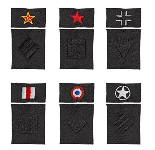 Musterbrand-World-of-Tanks-Badges-Ranking-System-Gaming-Bekleidung-Schwarz