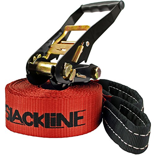 "Alpidex Slackline-Set ""I ❤ Slackline"", 25 m lang, 5 cm breit"