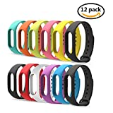 arekeke Replacement for Xiaomi Mi Band 2 Extensibles Coloridos 12 Pieces