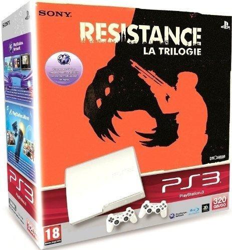 Konsole PS3 Slim 320 GB weiß + Resistance Trilogy [PS3]