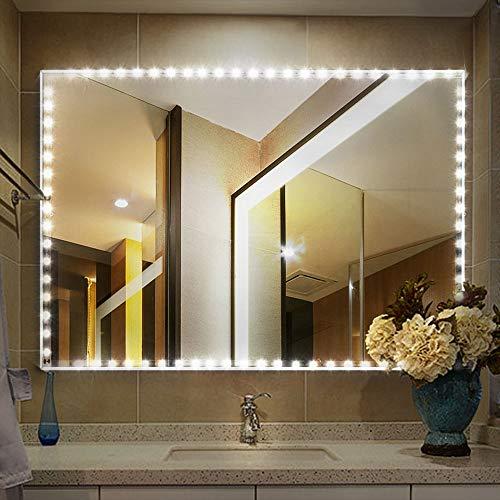 Vegkey LED Spiegelleuchte, Streifen Lichter LED Spiegelleuchte Lichtleiste 4M 240 LED, Dimmbar Spiegellampe Schminklicht Licht Spiegel Beleuchtung für Schminkspiegel Schminktisch Leuchte Licht