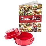 LANDMANN 13709 prensador para hamburguesas - prensadores para hamburguesas (Rojo, De plástico)