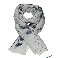 Dandelion Celebrity Designer Scarf Womens Scarf Shawl Wrap Ladies Long Scarf - SWANKYSWANS (White)