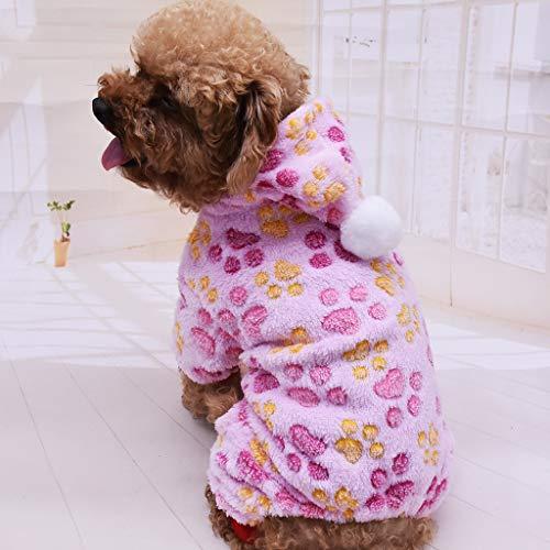 Koojawind Puppy Dog Pet Kleidung Hoodie Warm Sweater Shirt Puppy Herbst Winter Coat Doggy Overall Anzug Kleidung FüR Kleine, Mittlere Hunde (Puppy Love Kostüm)