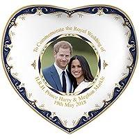 Royal Heritage H.r.h Harry y Megan Markle Conmemorativa de la Boda en Forma de corazón Plato, Porcelana, Multicolor, 15x 14,5x 2cm