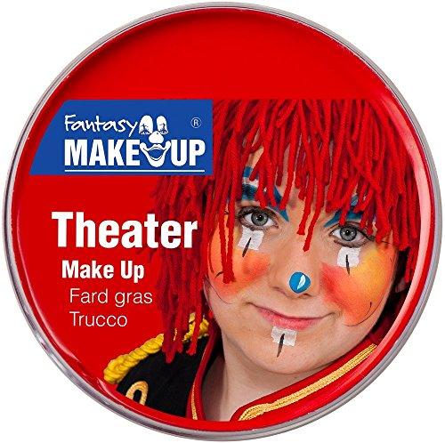 Festartikel Müller Theater Make Up Farbe rot 25 g Fasching Halloween Schminke