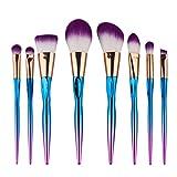 Rawdah 8PCS compongono le spazzole cosmetiche della spazzola dell'ombretto del sopracciglio della sopracciglia della base