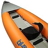 Blueborn SKX Touren-Kajak 365x90 cm Kanu für 2 Personen mit Hochdruck Drop-Stich Boden und Spritzschutz Boot Paddelboot mit 215 kg Tragkraft