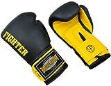 """Deluxe Leder Boxhandschuhe """"Fighter"""" schwarz"""