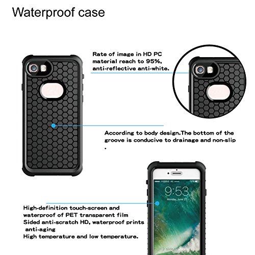 iPhone 8 / iPhone 7 Hülle,UltraSlim Thermo Sensor Fluoreszierende Thermo Hitze Induktion matt weich PC Schutzhülle Handyhülle Tasche für Apple iPhone 7 8 4.7 Zoll mit Farbwechsel Back Case Cover waterproof-Schwarz + Schwarz