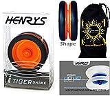 Henrys TIGER SNAKE YoYo (Noir/Orange) Looping Trick (2A) Professionnelle Roulement Yo Yo + livre d'instruction de trucs + sac de voyage! Pro Yo-Yo pour les enfants et les adultes!