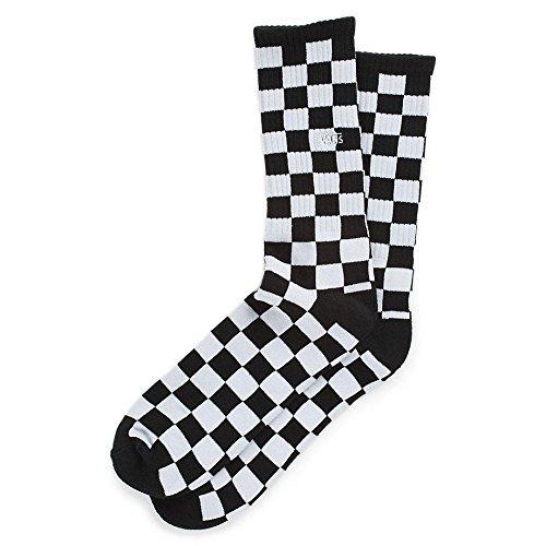 Vans Men's Checkerboard II Crew (9.5-13, 1P) Socks, Mehrfarbig (Black-White Check Hu0), One Size