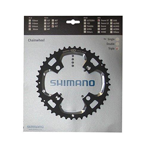 Shimano Kettenblatt, 44 Zähne, Lochkreis 4 x 104 mm, für \'Deore XT\' FC-M770, schwarz (1 Stück)