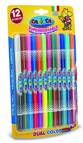 carioca-42265-bi-color-confezione-12-pennarelli-a-due-colori-punta-media-4-mm