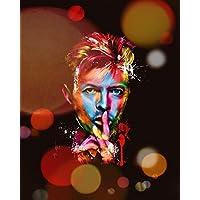 """Aluminium metal wall art """"David Bowie"""""""